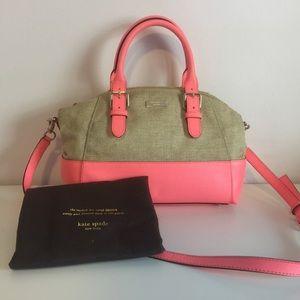KATE SPADE Coral Pink Crossbody Handbag Purse